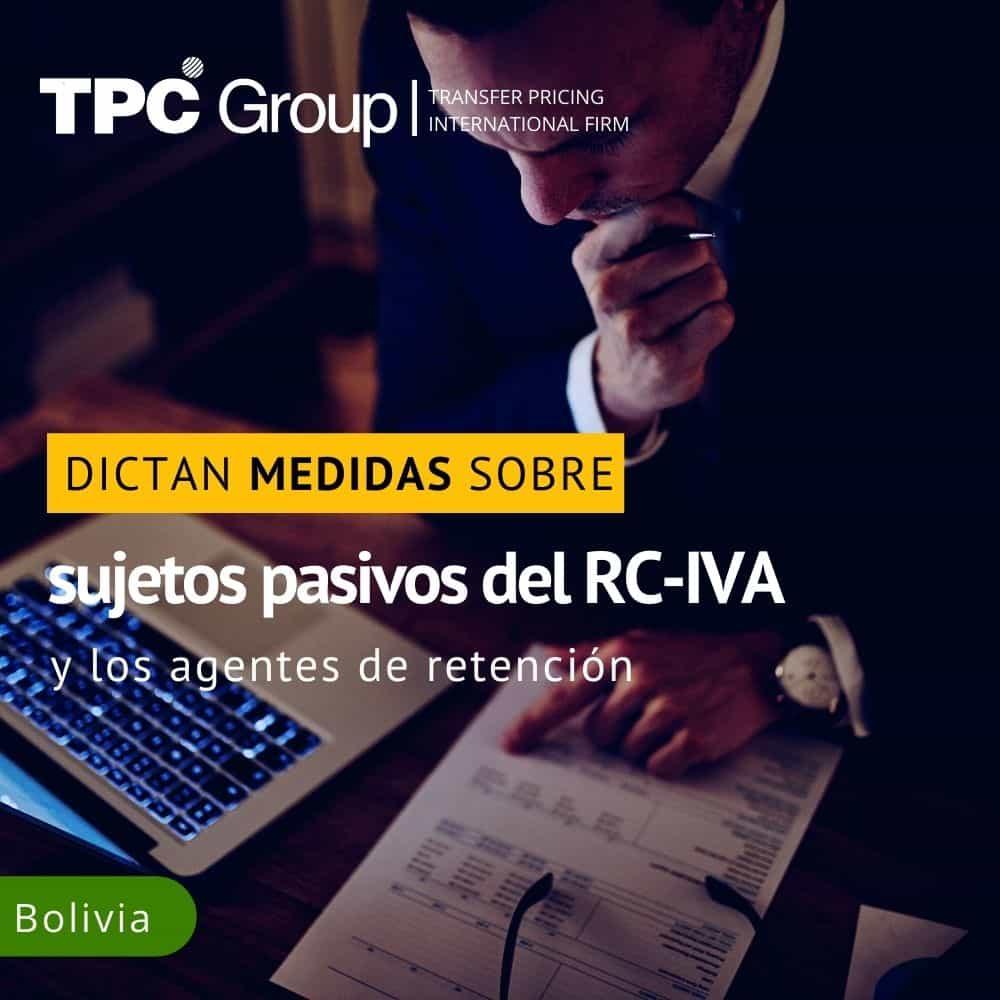 DICTAN MEDIDAS SOBRE SUJETOS PASIVOS DEL RC- IVA Y LOS AGENTES DE RETENCIÓN