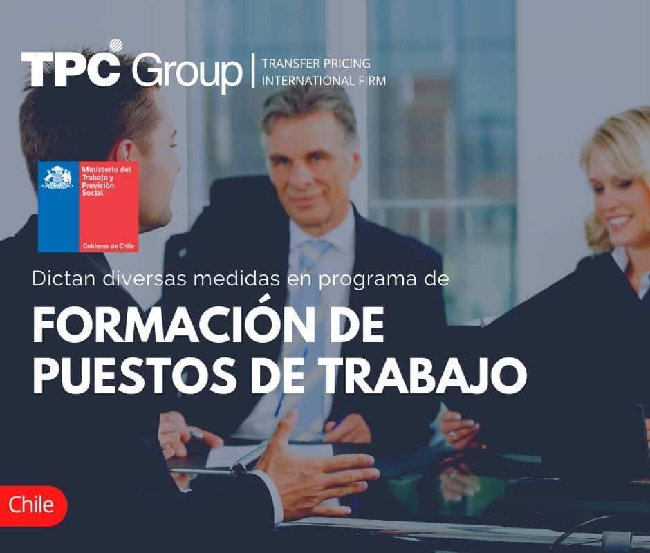DICTAN DIVERSAS MEDIDAS EN PROGRAMA DE FORMACIÓN DE PUESTOS DE TRABAJO