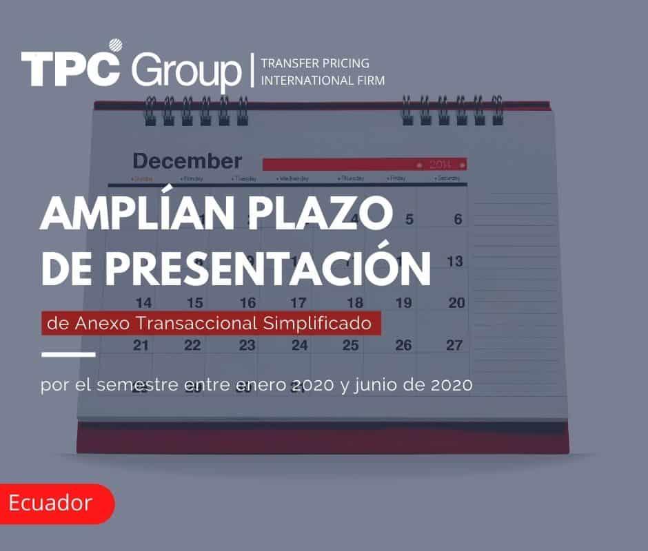 AMPLÍAN PLAZO DE PRESENTACIÓN DE ANEXO TRANSACCIONAL SIMPLIFICADO