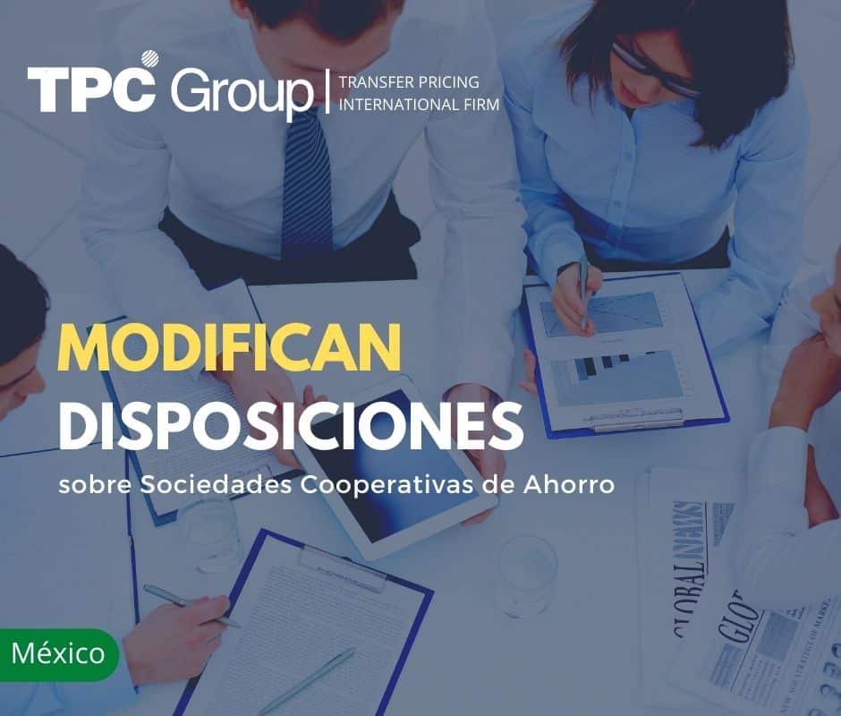 MODIFICAN DISPOSICIONES SOBRE SOCIEDADES COOPERATIVAS DE AHORRO