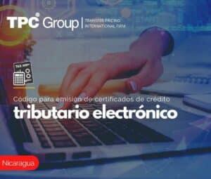 CÓDIGO PARA EMISIÓN DE CERTIFICADOS DE CRÉDITO TRIBUTARIO ELECTRÓNICO