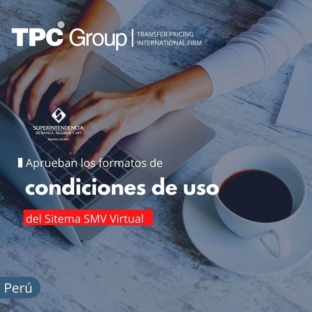 APRUEBAN LOS FORMATOS DE CONDICIONES DE USO DEL SISTEMA SMV VIRTUAL