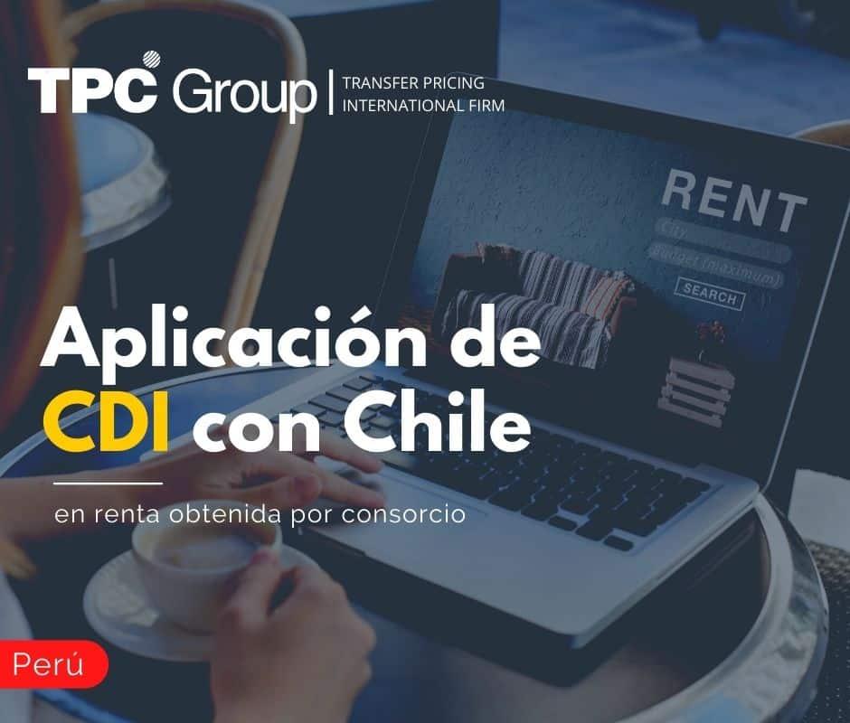 APLICACIÓN DE CDI CON CHILE EN RENTA OBTENIDA POR CONSORCIO