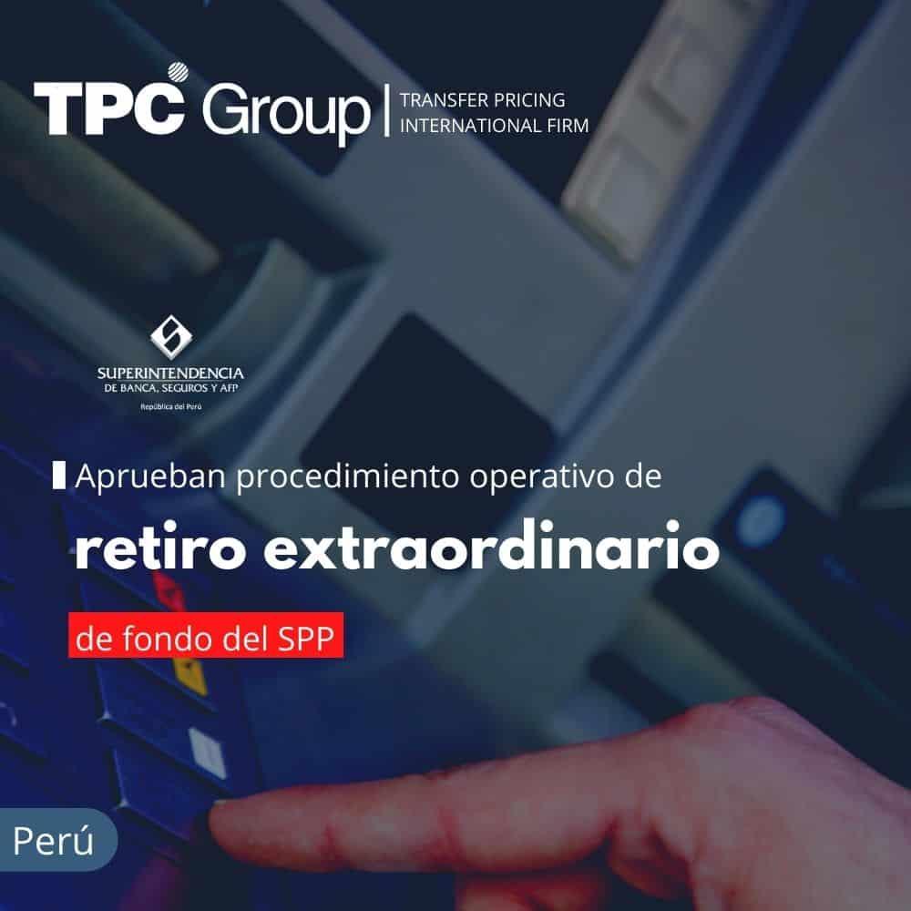 Aprueban Procedimiento Operativo para Retiro Extraordinario de Fondos del SPP