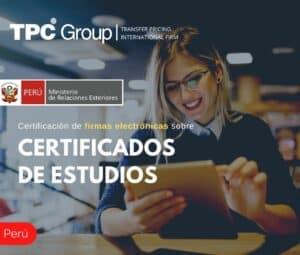 CERTIFICACIÓN DE FIRMAS ELECTRÓNICAS SOBRE CERTIFICADOS DE ESTUDIOS