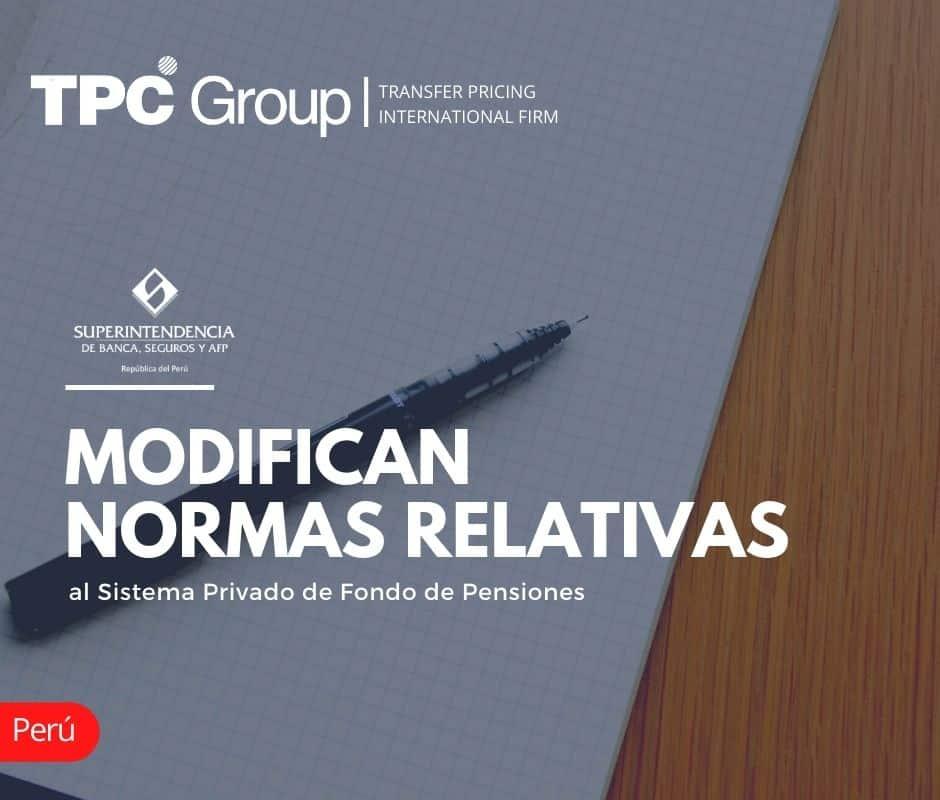 MODIFICAN NORMAS RELATIVAS AL SISTEMA PRIVADO DE FONDO DE PENSIONES