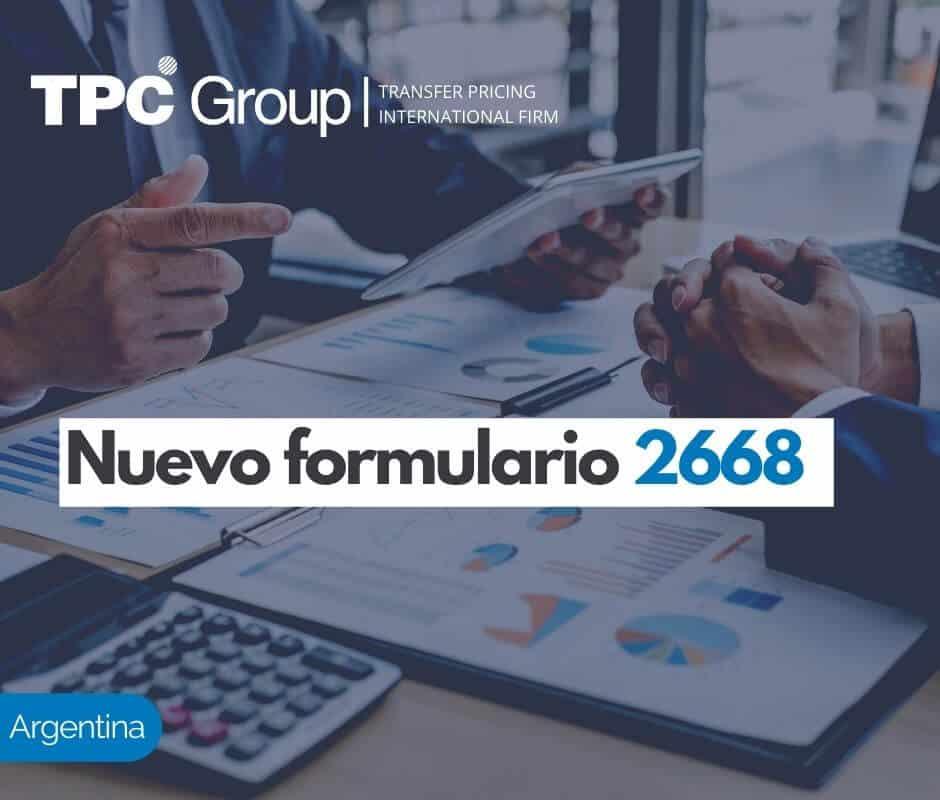 Nuevo formulario 2668 en Argentina