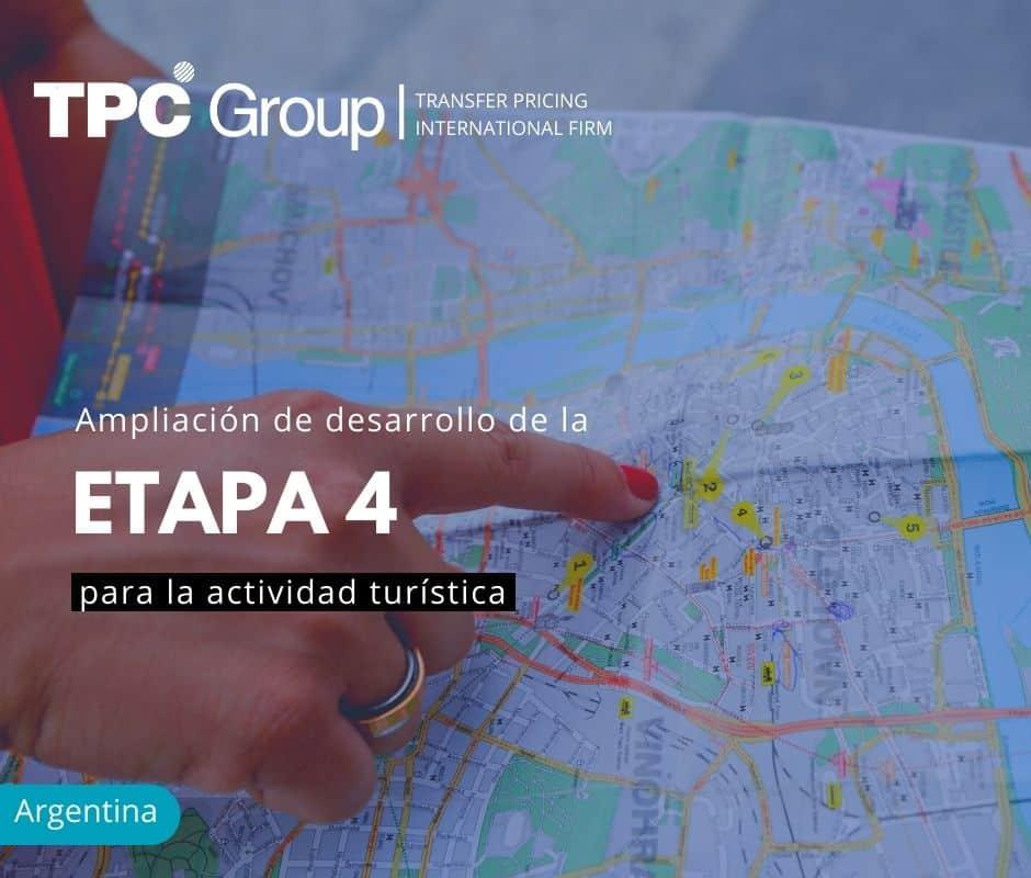 Ampliación de Desarrollo de la Etapa 4 para la Actividad Turística
