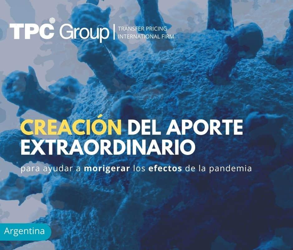 Creación del Aporte Extraordinario para Ayudar a Morigerar los Efectos de la Pandemia