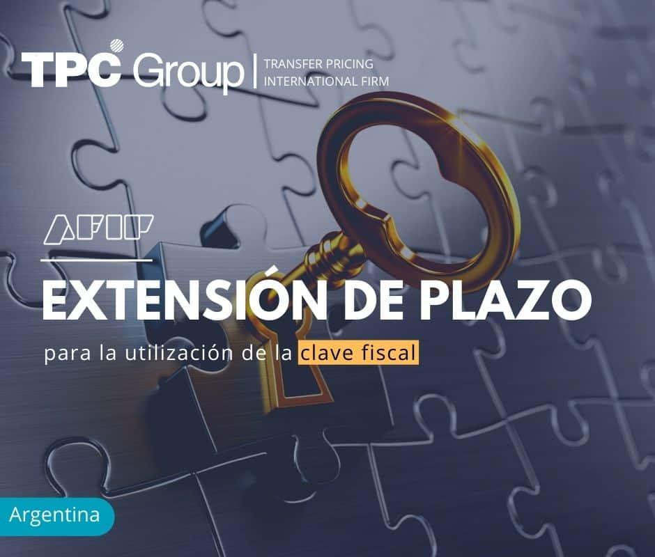 Extensión del Plazo para la Utilización de la Clave Fiscal