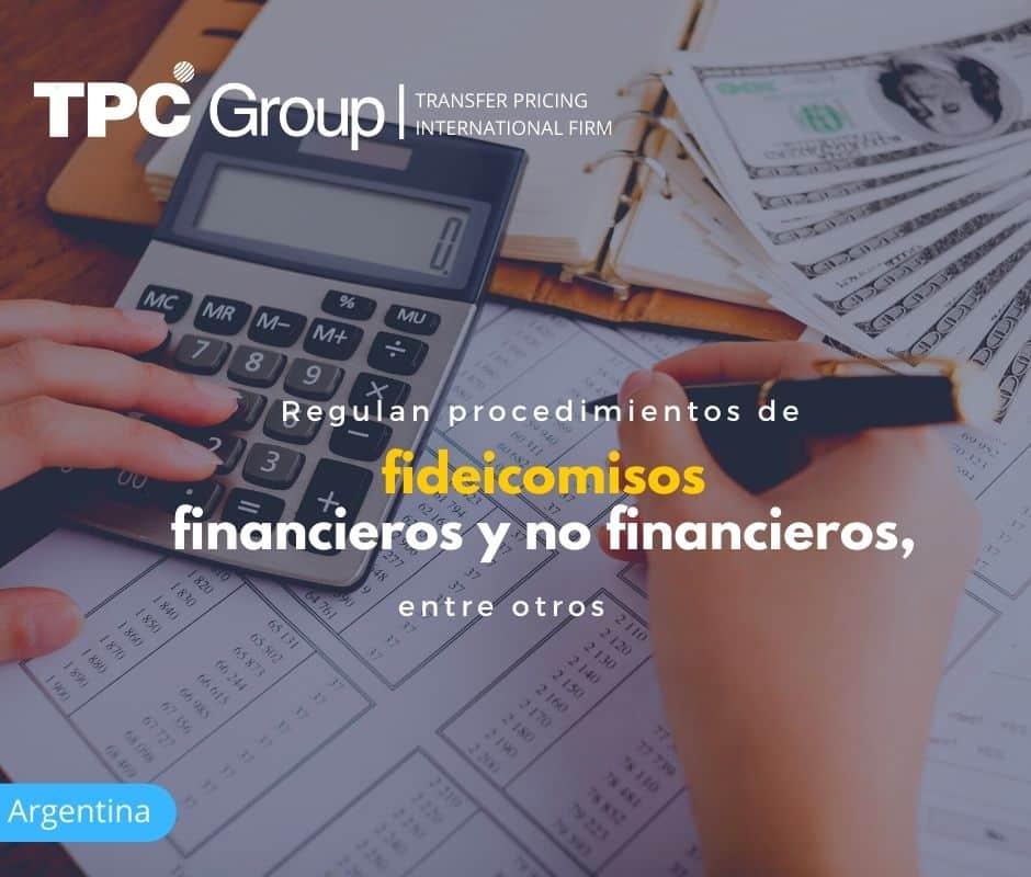 Regulan Procedimientos de Fideicomisos Financieros y no Financieros, entre otros