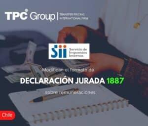Modifican el Formato de Declaración Jurada 1887 Sobre Remuneraciones