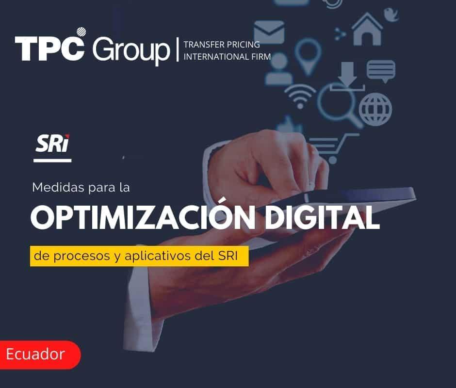 Medidas para la Optimización Digital de Procesos y Aplicativos del SRI