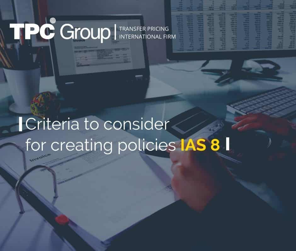 What should you take into account to create accounting policies according to IAS 8?
