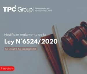 Modifican Reglamento de la Ley N° 6524/2020 de Estado de Emergencia