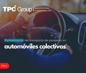 Formalización de Transporte de Pasajeros en Automóviles Colectivos