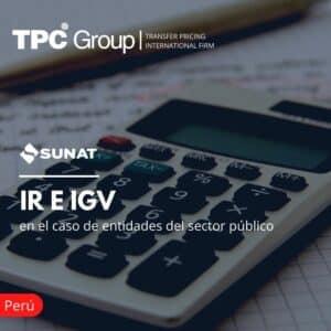 IR e IGV en el Caso Entidades del Sector Público
