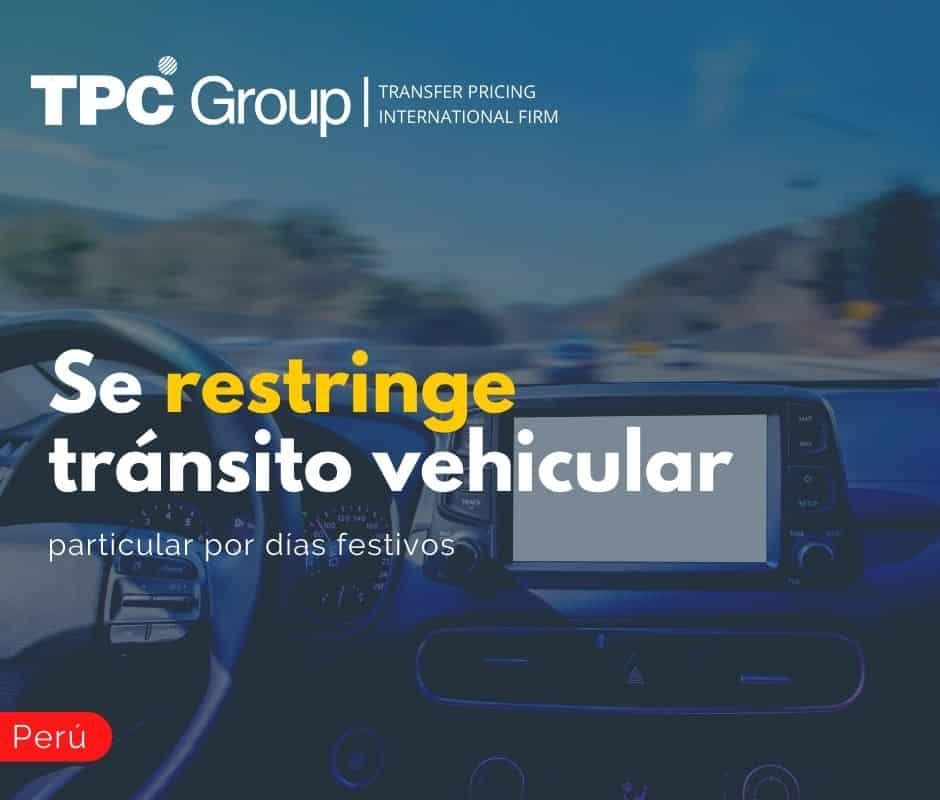 Se Restringe Tránsito Vehicular Particular por Días Festivos
