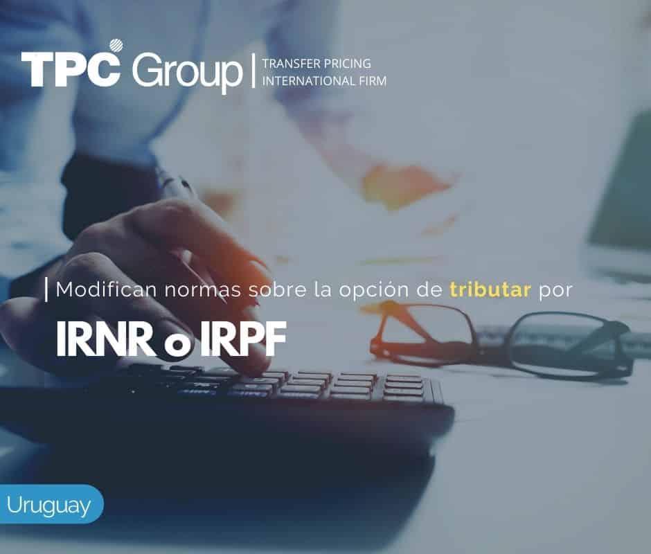 Modifican Normas sobre la Opción de Tributar por IRNR ó IRPF