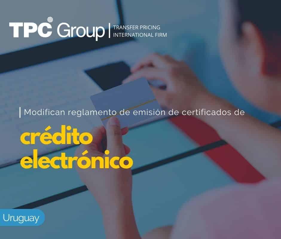 Modifican Reglamento de Emisión de Certificados de Crédito Electrónico