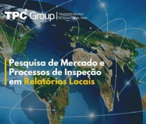 Pesquisa de mercado e processos de inspeção em relatórios locais