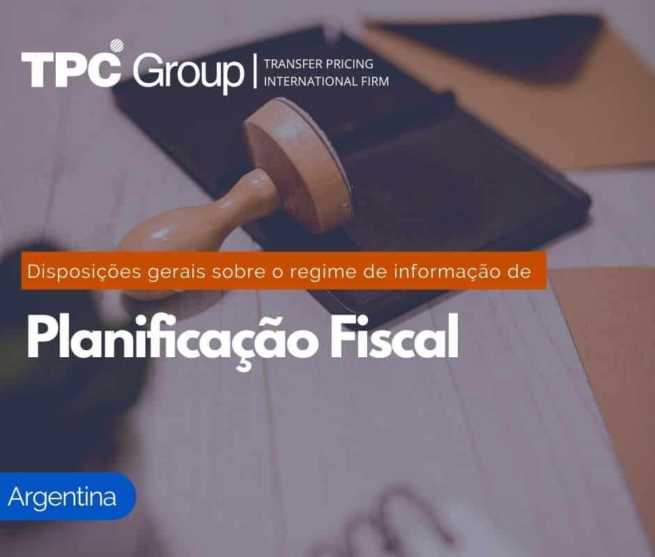 O Regime de Informação de Planejamento Fiscais