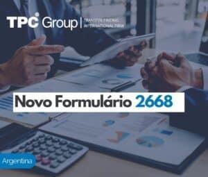 Novo Formulário 2668: Substituído o Formulário 743