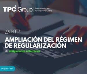 Ampliación del régimen de regularización de obligaciones tributarias