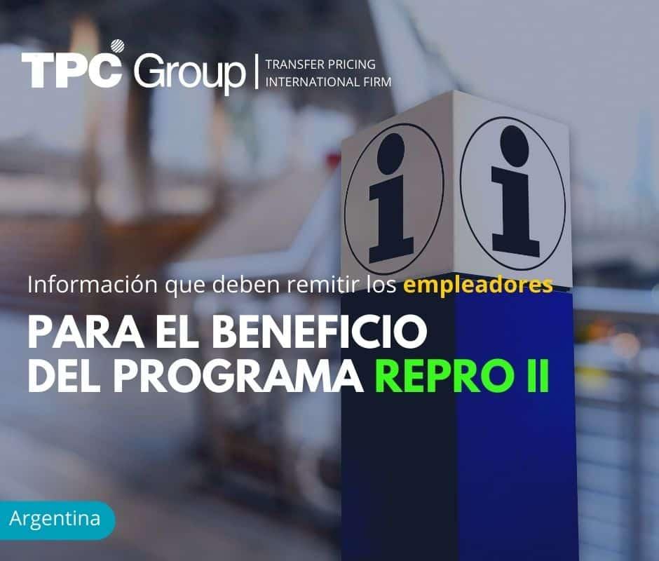 Información que deben remitir los empleadores para el beneficio del programa REPRO II