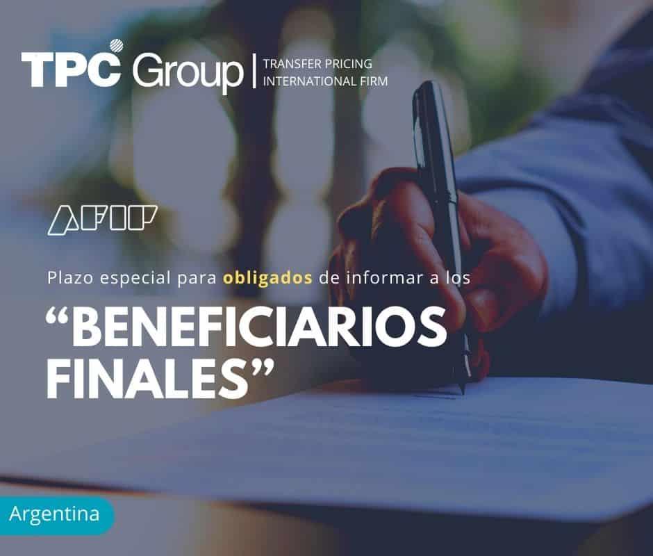 """Plazo especial para obligados de informar a los """"Beneficiarios Finales"""""""