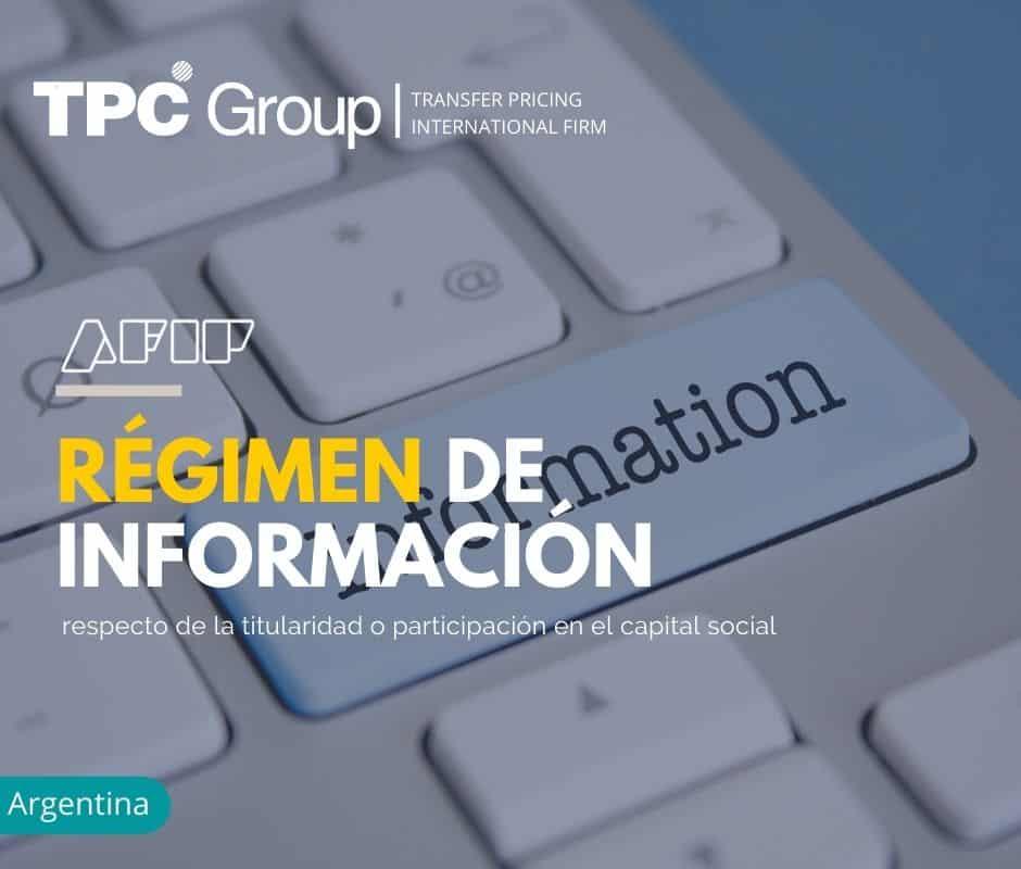 Régimen de información respecto de la titularidad o participación en el capital social
