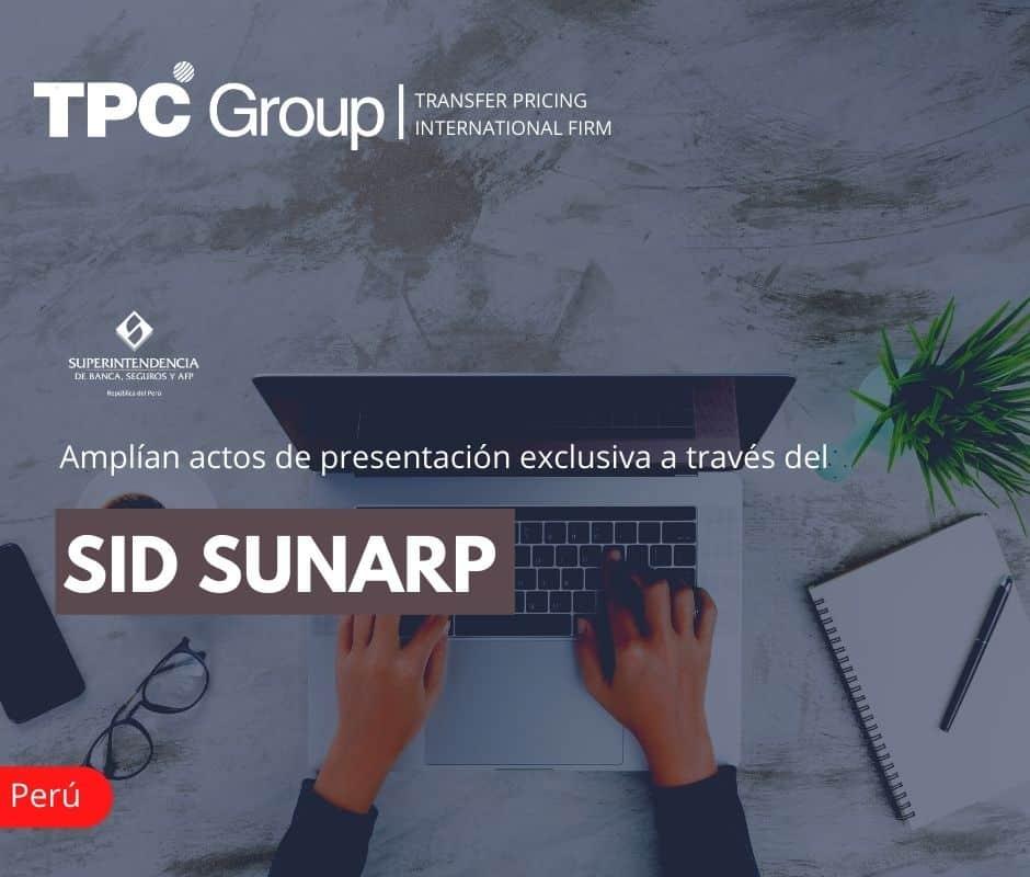 Amplían actos de presentación exclusiva a través del SID Sunarp