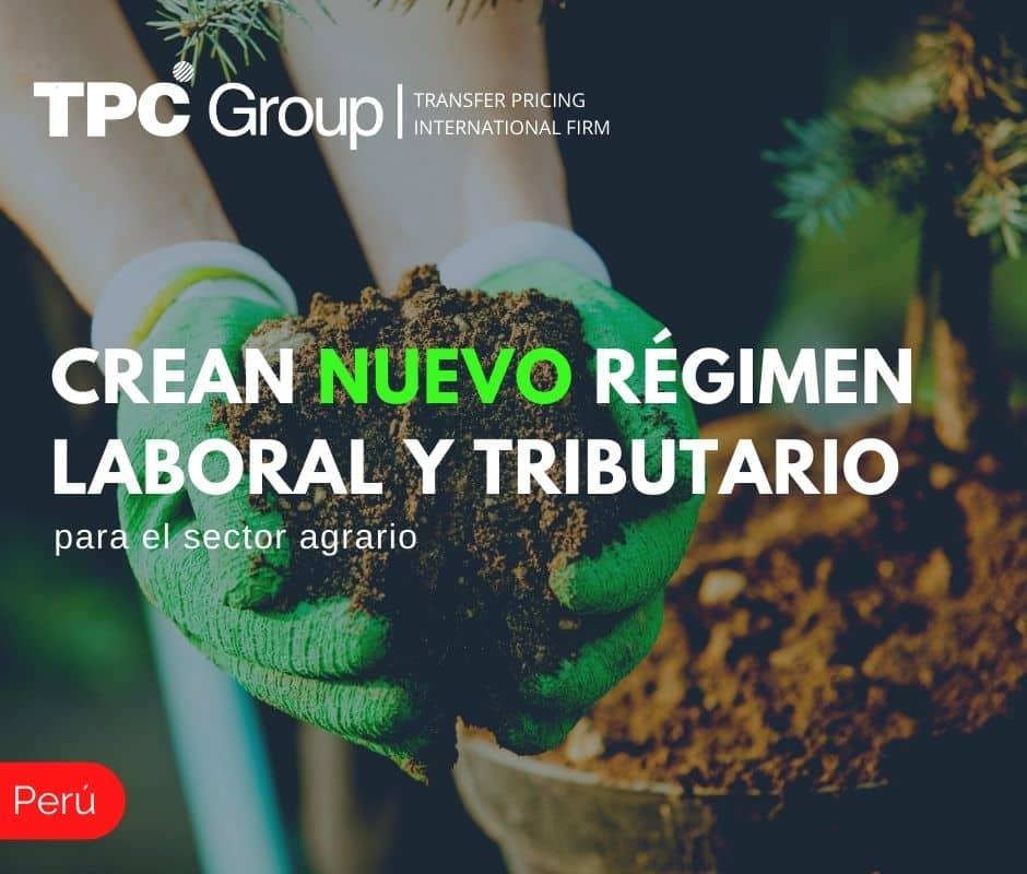 Crean nuevo régimen laboral y tributario para el sector agrario