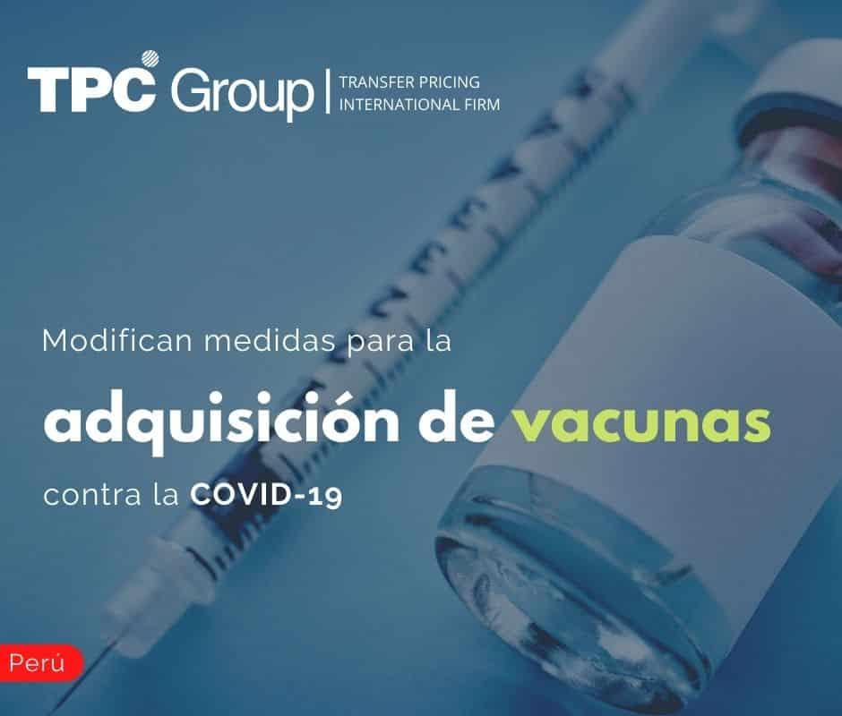 Modifican medidas para la adquisición de vacunas contra la COVID-19