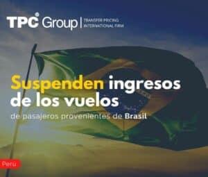 Suspenden ingresos de los vuelos de pasajeros provenientes de Brasil
