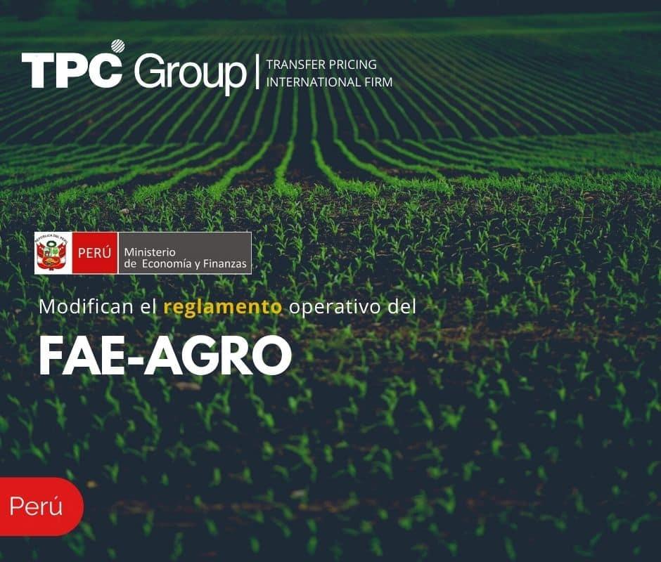 Modifican reglamento operativo del FAE-AGRO