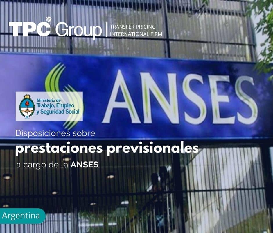 Disposiciones sobre prestaciones previsionales a cargo de la ANSES