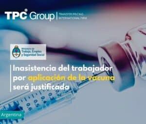 Inasistencia del trabajador por aplicación de la vacuna será justificada