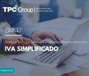Modifican normativa sobre el régimen de registración electrónica IVA simplificado