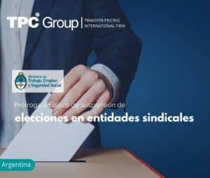 Prórroga de plazo de suspensión de elecciones en entidades sindicales