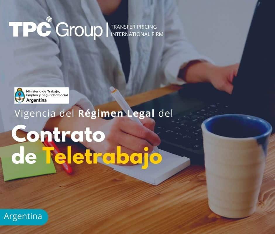 Vigencia del Régimen Legal del Contrato de Teletrabajo
