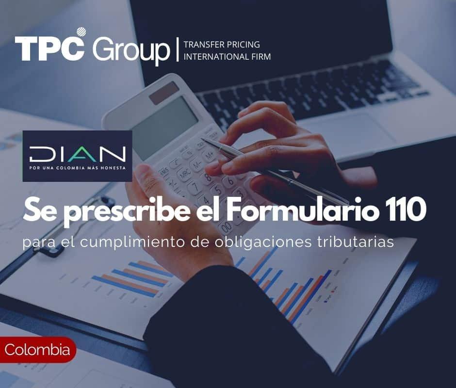 Se prescribe el Formulario 110 para el cumplimiento de obligaciones tributarias