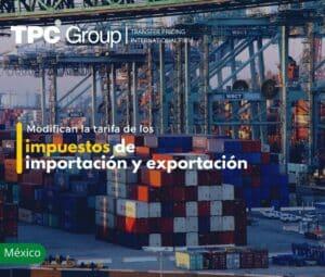 Modifican la tarifa de los impuestos de importación y exportación