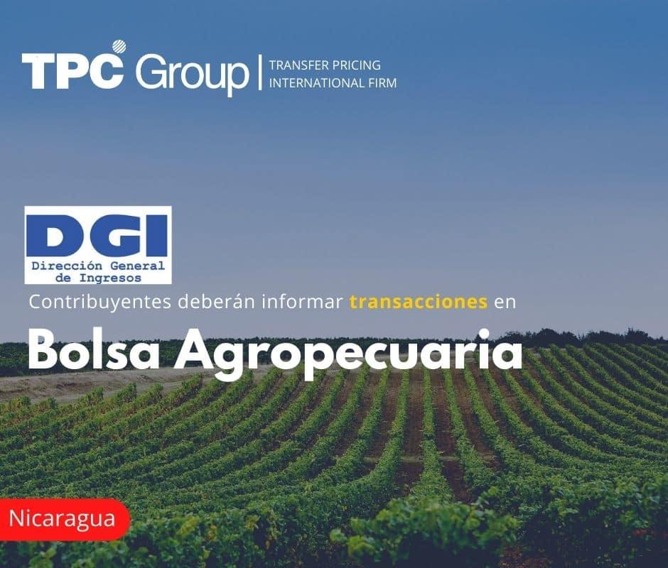 Contribuyentes deberán informar transacciones en Bolsa Agropecuaria