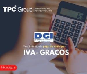 Vencimiento de pago de anticipo IVA- GRACOS