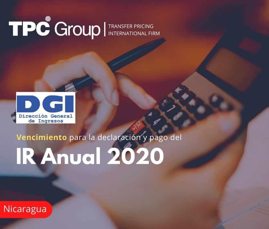 Vencimiento para la declaración y pago del IR Anual 2020