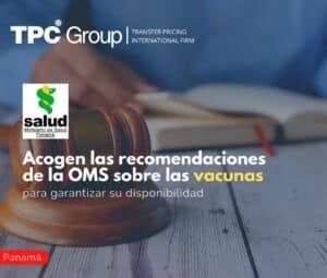 Acogen las recomendaciones de la OMS sobre las vacunas para garantizar su disponibilidad