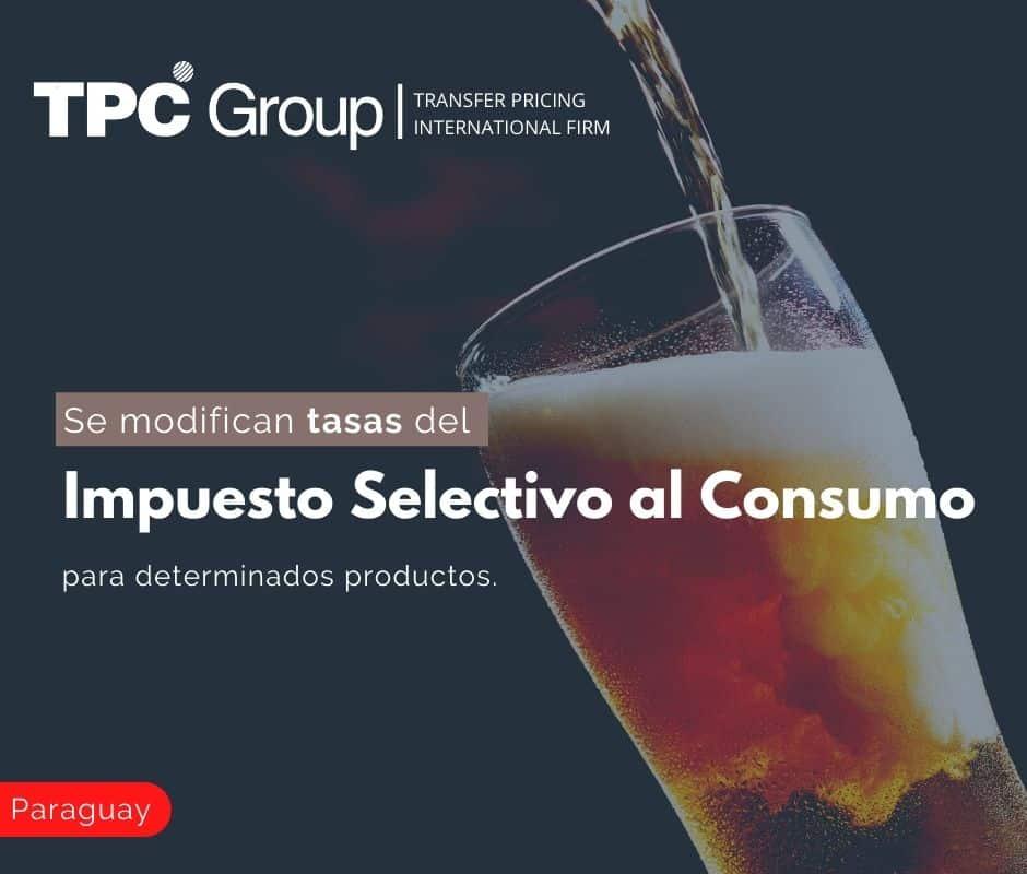 Se modifican tasas del Impuesto Selectivo al Consumo para determinados productos