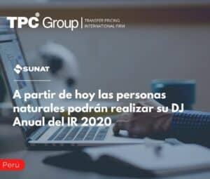 A partir de hoy las personas naturales podrán realizar su DJ Anual del IR 2020