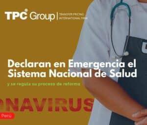 Declaran en Emergencia el Sistema Nacional de Salud y se regula su proceso de reforma